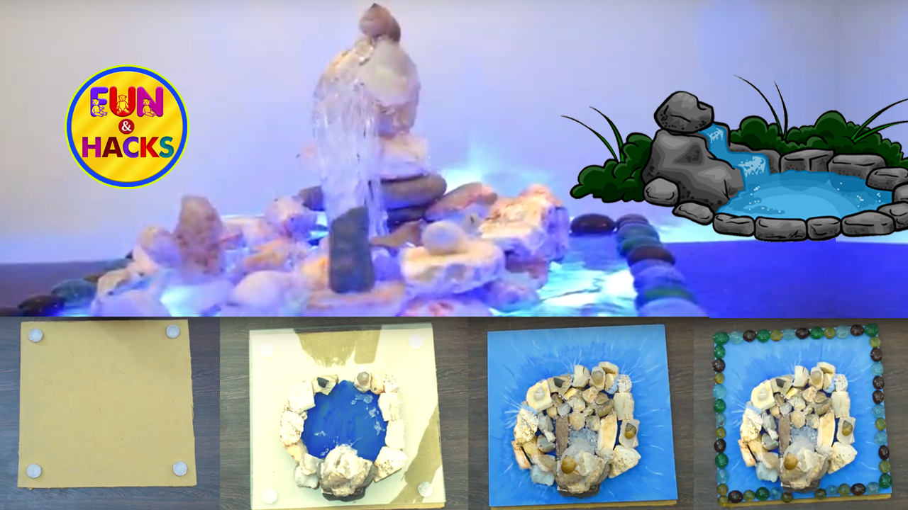 How To Make A Waterfall Out Of Hot Glue And Stones Hot Glue Craft